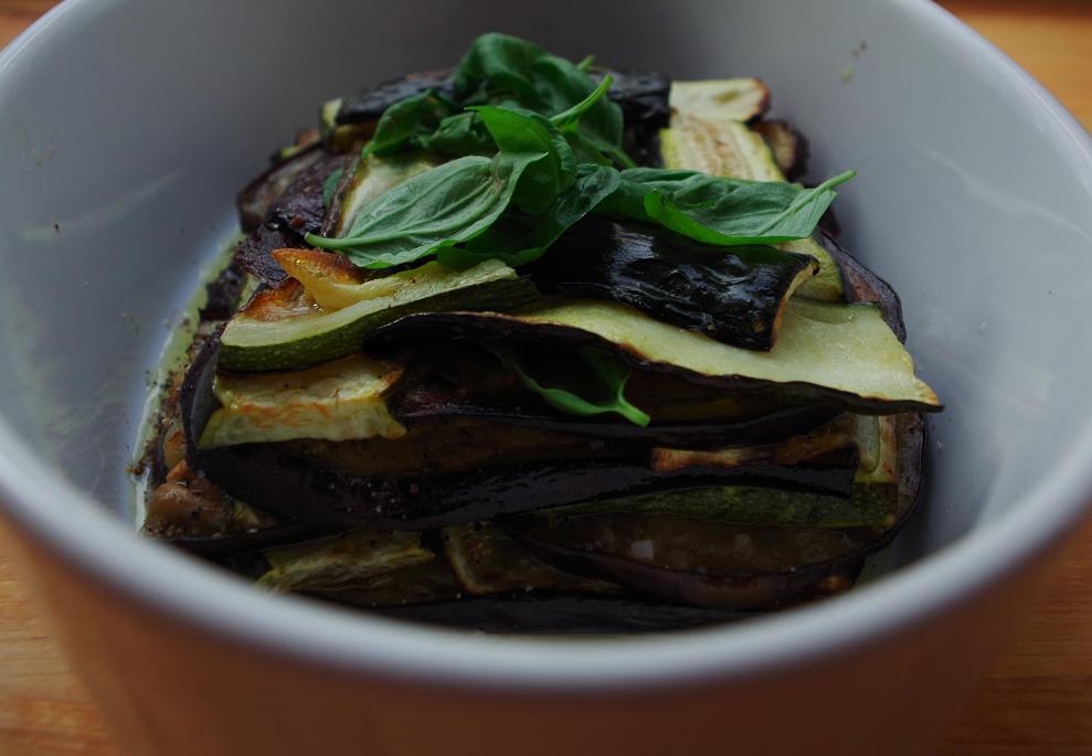 Auberginen-Zucchini-Terrine
