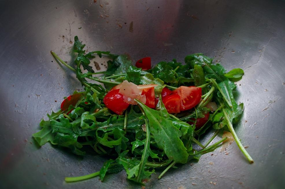Rucolasalat mit Tomaten