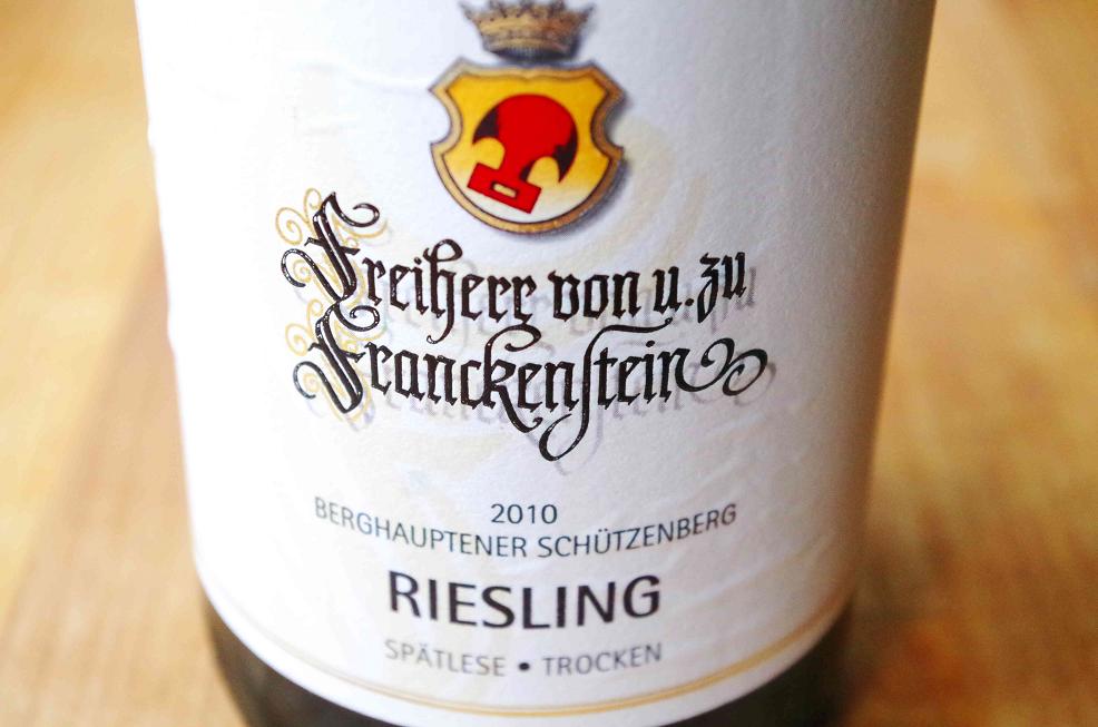 Franckenstein Riesling Berghauptener Schützenberg