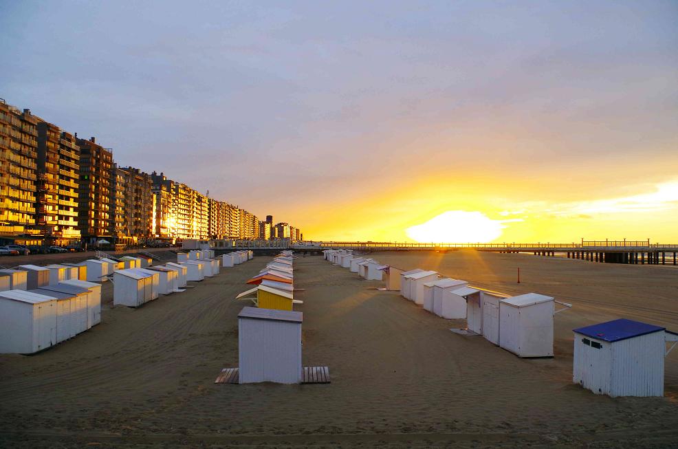 Sonnenuntergang Blankenberge