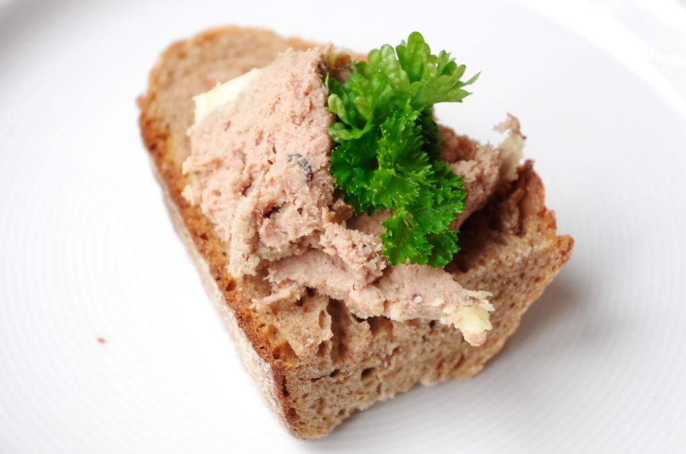 Ententerrine auf Brot